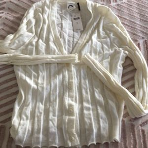 NWT Anthropologie Ribbed Cardigan Sweater